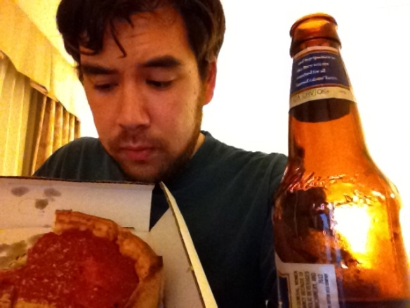 Giordano's Deep Dish Pizza and Sam Adams