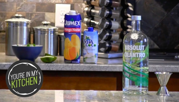 YIMK Absolut Cilantro cocktail - with mark